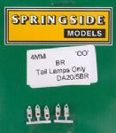 Springside DA20 BR - OO Scale  Tail Lamps BR (5)